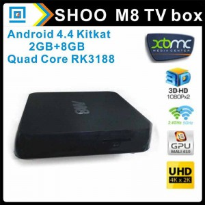 M8 Quad-core Android TV Box
