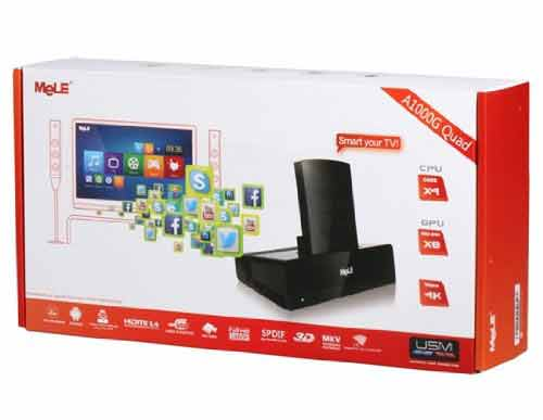 Mele A1000G Quad-core Android TV content
